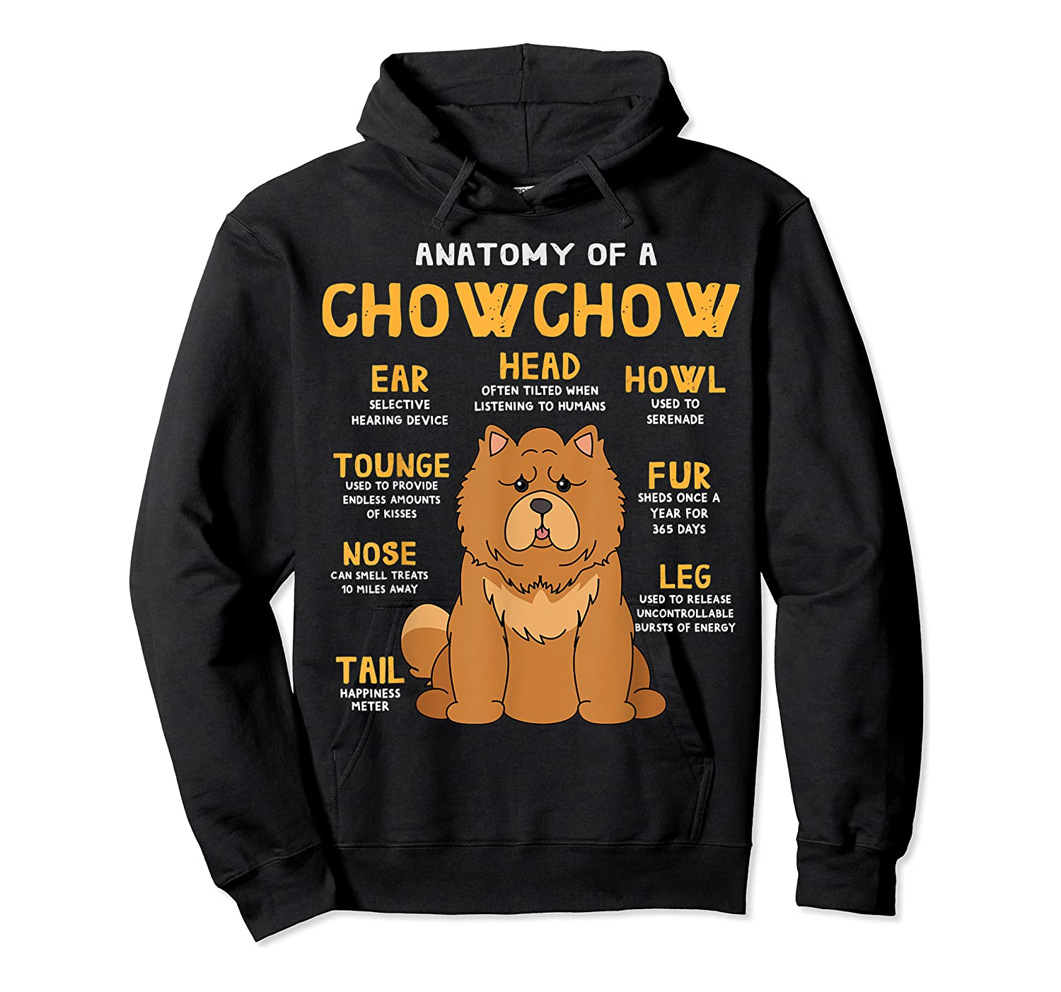 Chow Chow Funny Anatomy Of Mom Dad Dog Gift T-shirt Unisex Pullover Hoodie