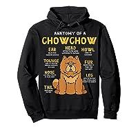 Chow Chow Funny Anatomy Of Mom Dad Dog Gift T-shirt Hoodie Black