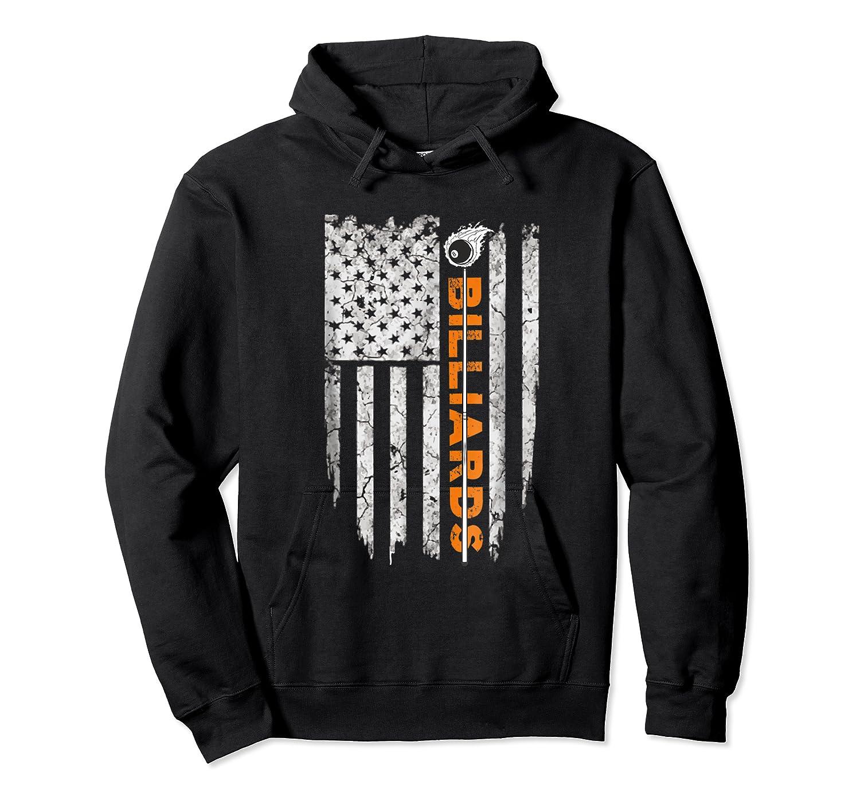 Billiards American Flag T-shirt Billiard Ts Unisex Pullover Hoodie