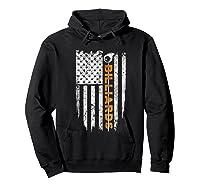 Billiards American Flag T-shirt Billiard Ts Hoodie Black