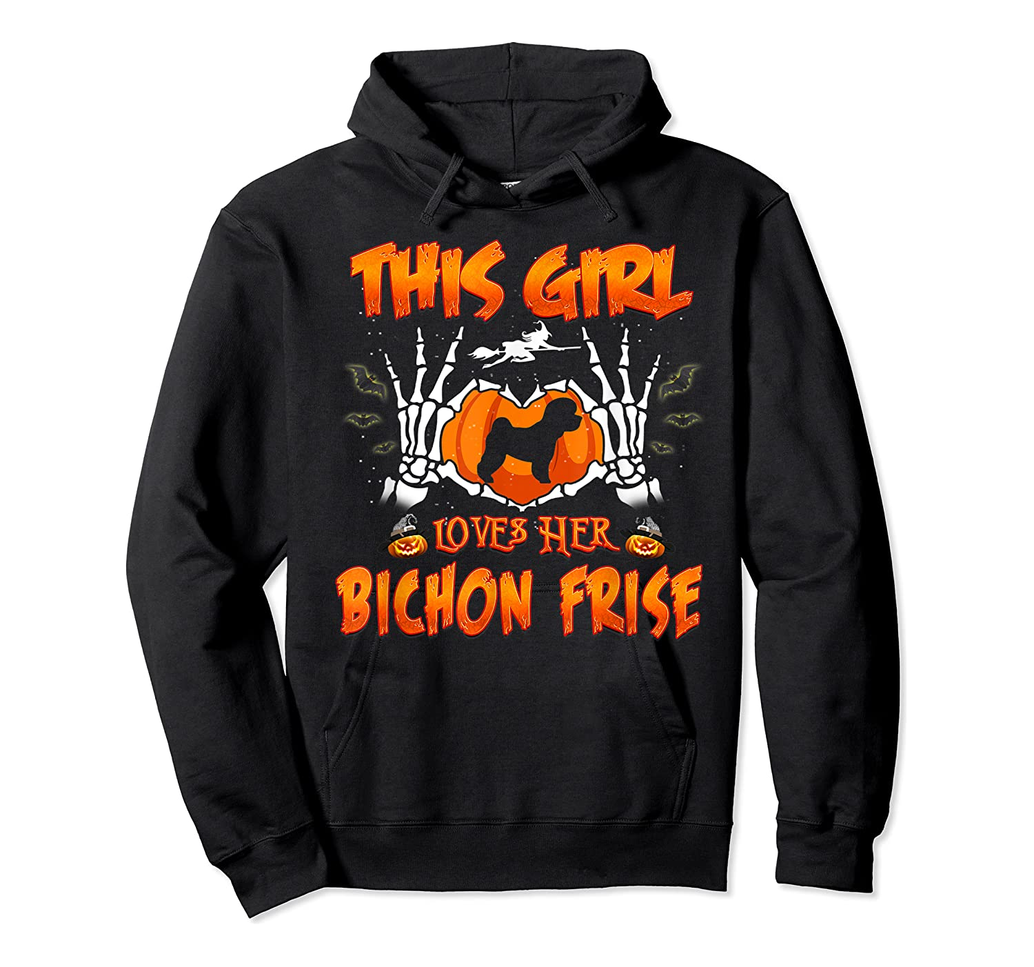 This Girl Loves Her Bichon Frise Dog Halloween Costume Shirts Unisex Pullover Hoodie