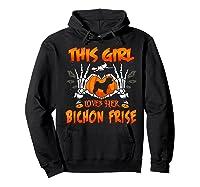 This Girl Loves Her Bichon Frise Dog Halloween Costume Shirts Hoodie Black