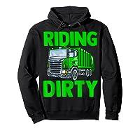 Recycling Trash Garbage Truck Riding Dirty Shirts Hoodie Black