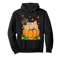 Thanksgiving Day Pug Dog Costume Pumpkin Gifts T-shirt Hoodie Black