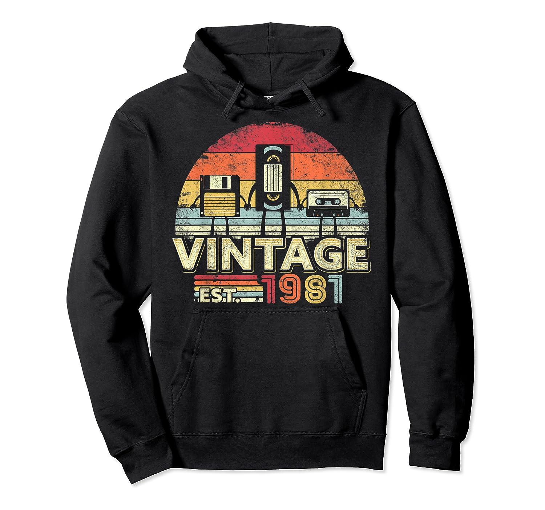 1981 Shirt. Vintage Birthday Gift, Funny Music, Tech Humor T-shirt Unisex Pullover Hoodie