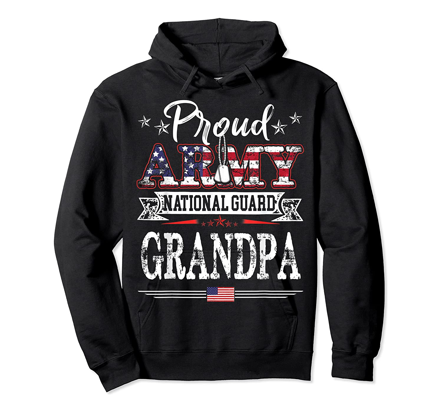 Proud Army National Guard Grandpa T-shirt U.s. Military Gift T-shirt Unisex Pullover Hoodie