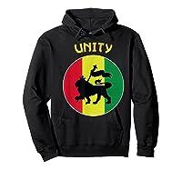 Rasta Live Up Unity Design Shirts Hoodie Black