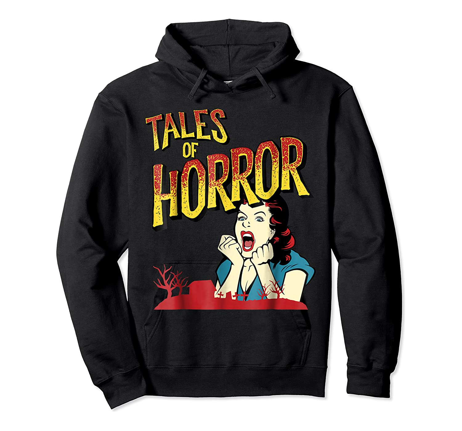 Vintage Horror Movie Poster Funny Halloween Shirts Unisex Pullover Hoodie