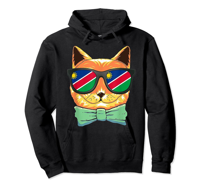Namibia Flag Namibia Cat Sunglasses Shirt Unisex Pullover Hoodie