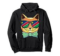 Namibia Flag Namibia Cat Sunglasses Shirt Hoodie Black