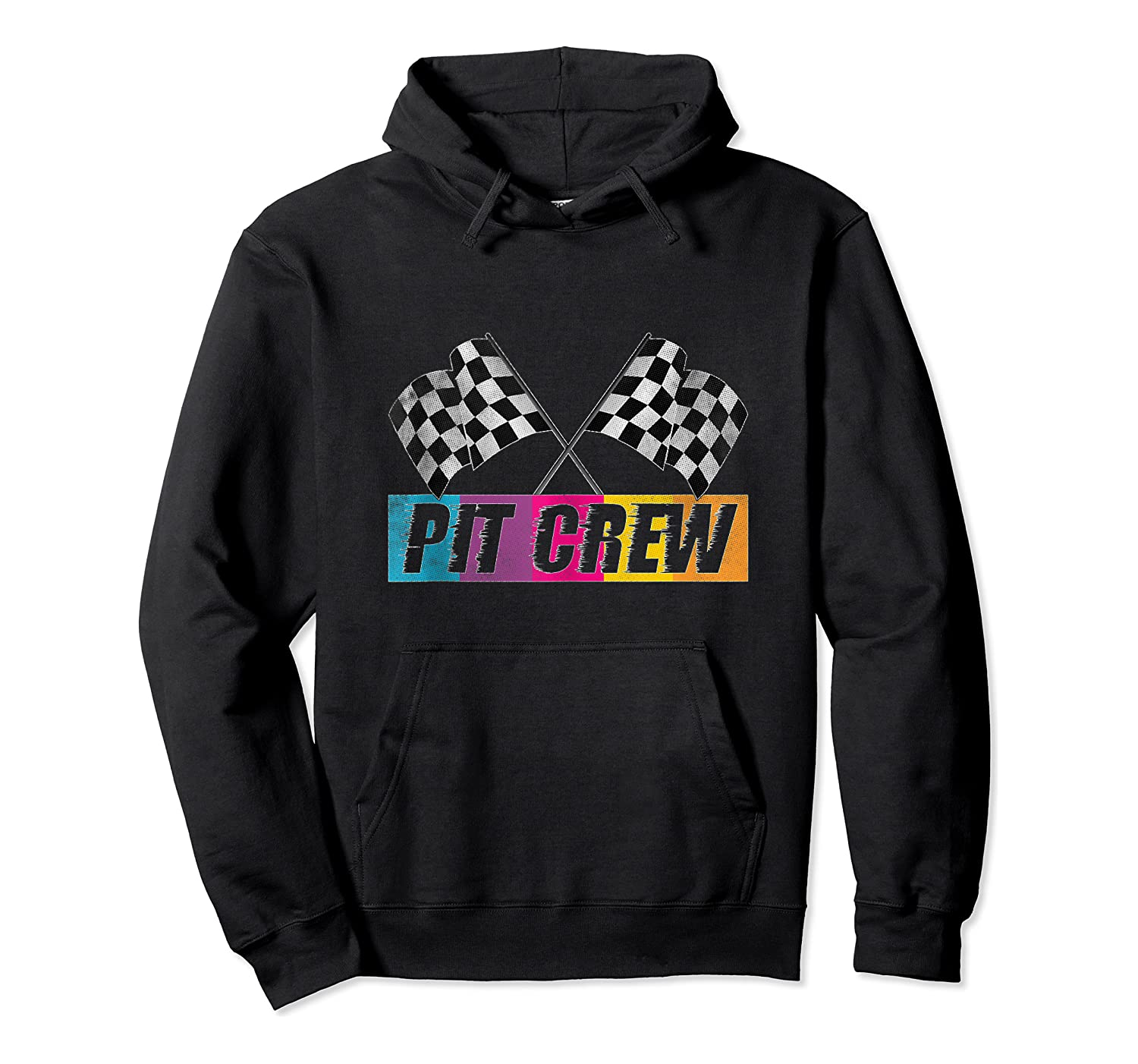 Pit Crew Race Car Party Checkered Flag Car Racing Party Gift Shirts Unisex Pullover Hoodie