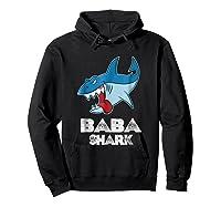 Baba Shark Shirts Hoodie Black