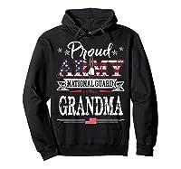 Proud Army National Guard Grandma U S Military Gift Shirts Hoodie Black