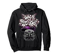 Back To School (in Purple) T-shirt Hoodie Black