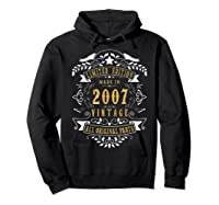 13 Years Old Made In 2007 13th Birthday, Anniversary Gift Shirts Hoodie Black