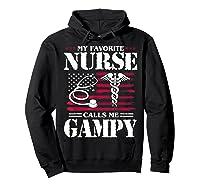 My Favorite Nurse Calls Me Gampy Father's Day Gif Shirts Hoodie Black