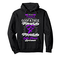 Wear Purple For My Godfather Cystic Fibrosis Support Shirts Hoodie Black