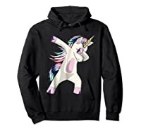 Dabbing Unicorn For Daughter Son Granddaughter Daddy Shirts Hoodie Black