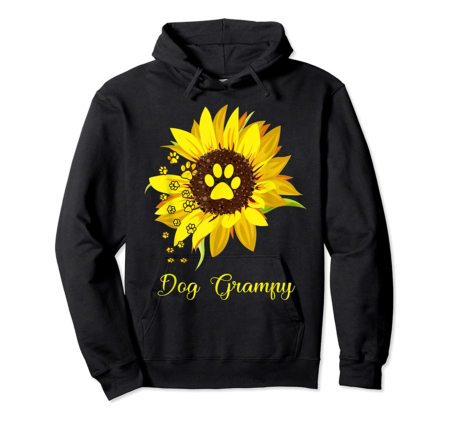 Dog Grampy Sunflower Gift Love Dogs And Flowers T-shirt Unisex Pullover Hoodie