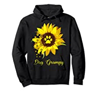Dog Grampy Sunflower Gift Love Dogs And Flowers T-shirt Hoodie Black