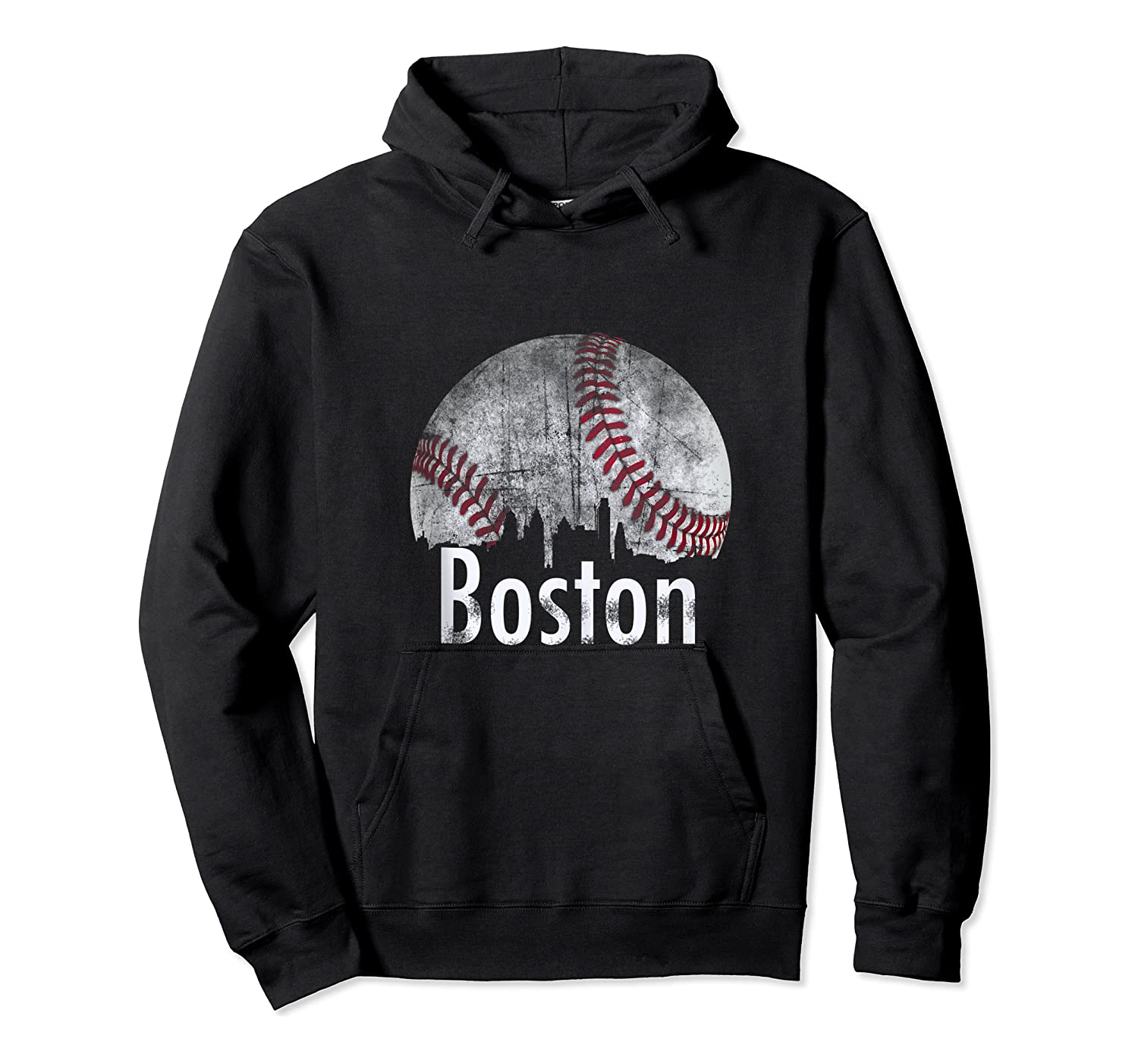 Vintage Boston Baseball Gifts Red Skyline Classic City Tank Top Shirts Unisex Pullover Hoodie