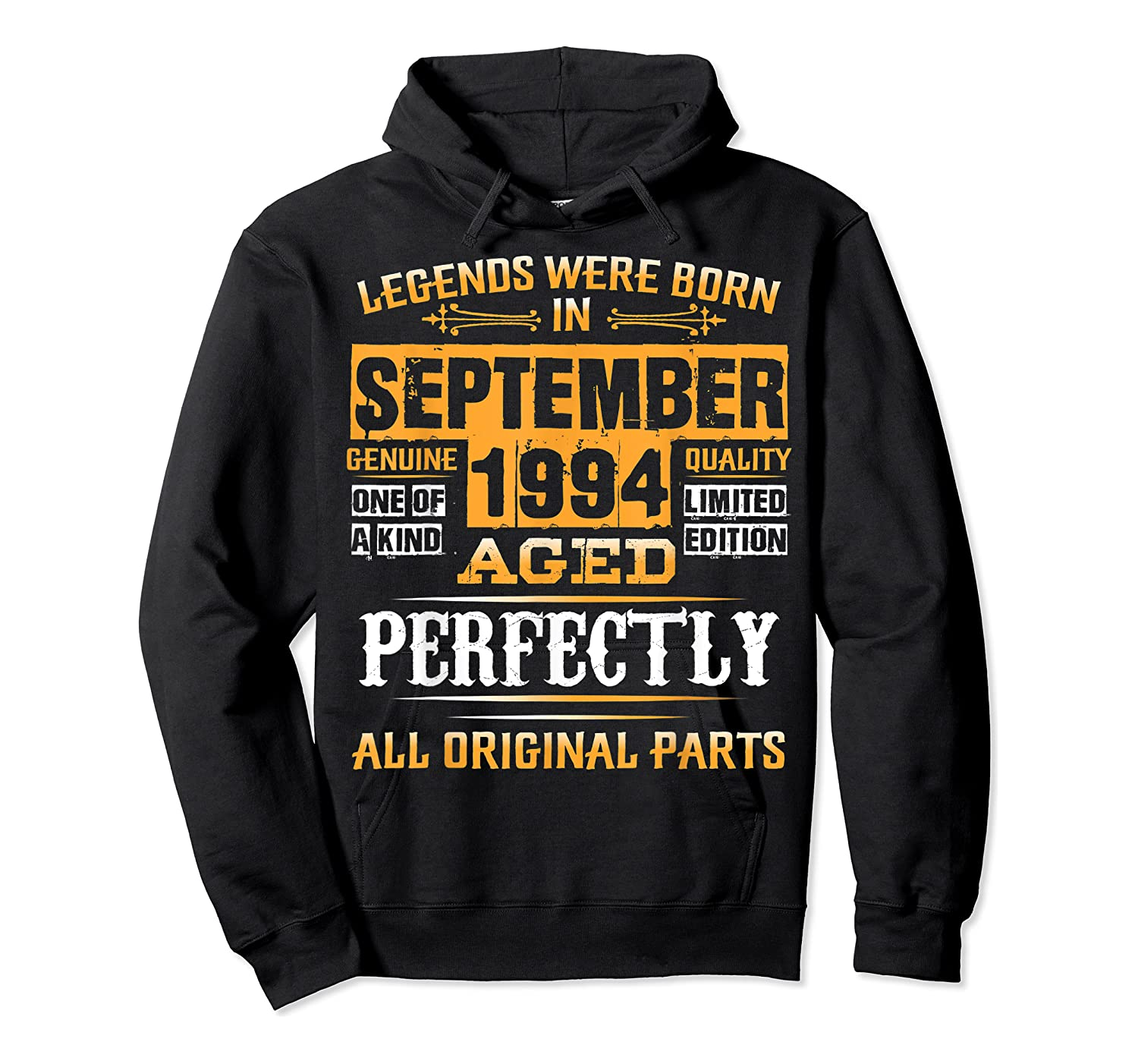 Vintage September 1994 Birthday Gift For 25 Yrs Old D1 Shirts Unisex Pullover Hoodie