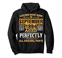 Vintage September 1994 Birthday Gift For 25 Yrs Old D1 Shirts Hoodie Black