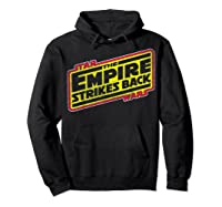 Star Wars The Empire Strikes Back Vintage Logo T-shirt Hoodie Black