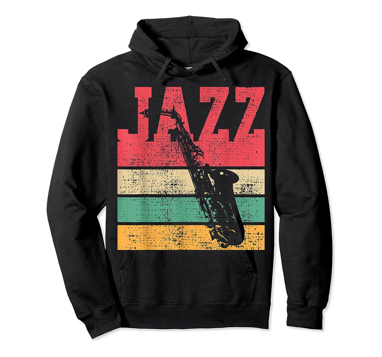 Saxophone Baritone Jazz Music Retro Vintage Gift T-shirt Unisex Pullover Hoodie