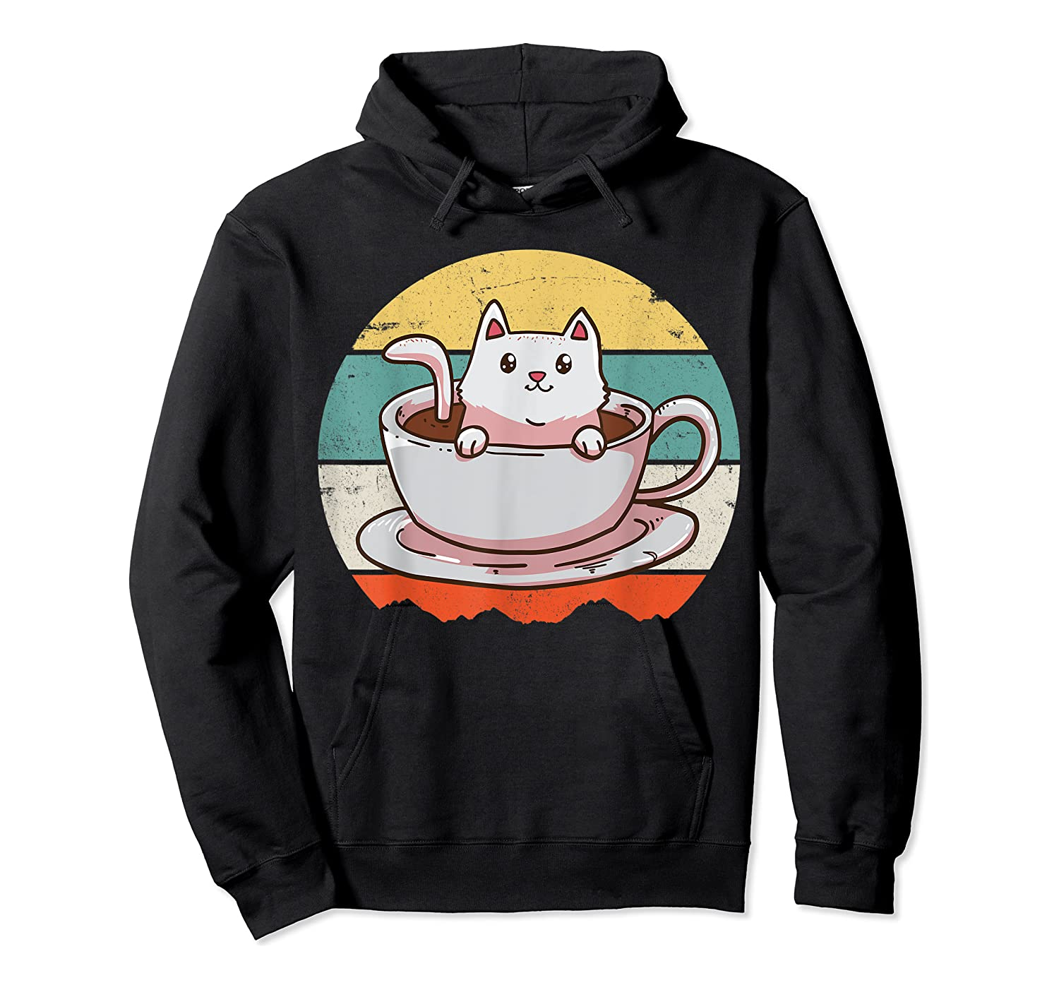 Coffee Cats Retro Vintage Gift T-shirt Unisex Pullover Hoodie