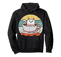 Coffee Cats Retro Vintage Gift T-shirt Hoodie Black