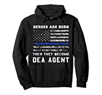 Agent Hero Born As An Officer Thin Blue Line Shirts Hoodie Black