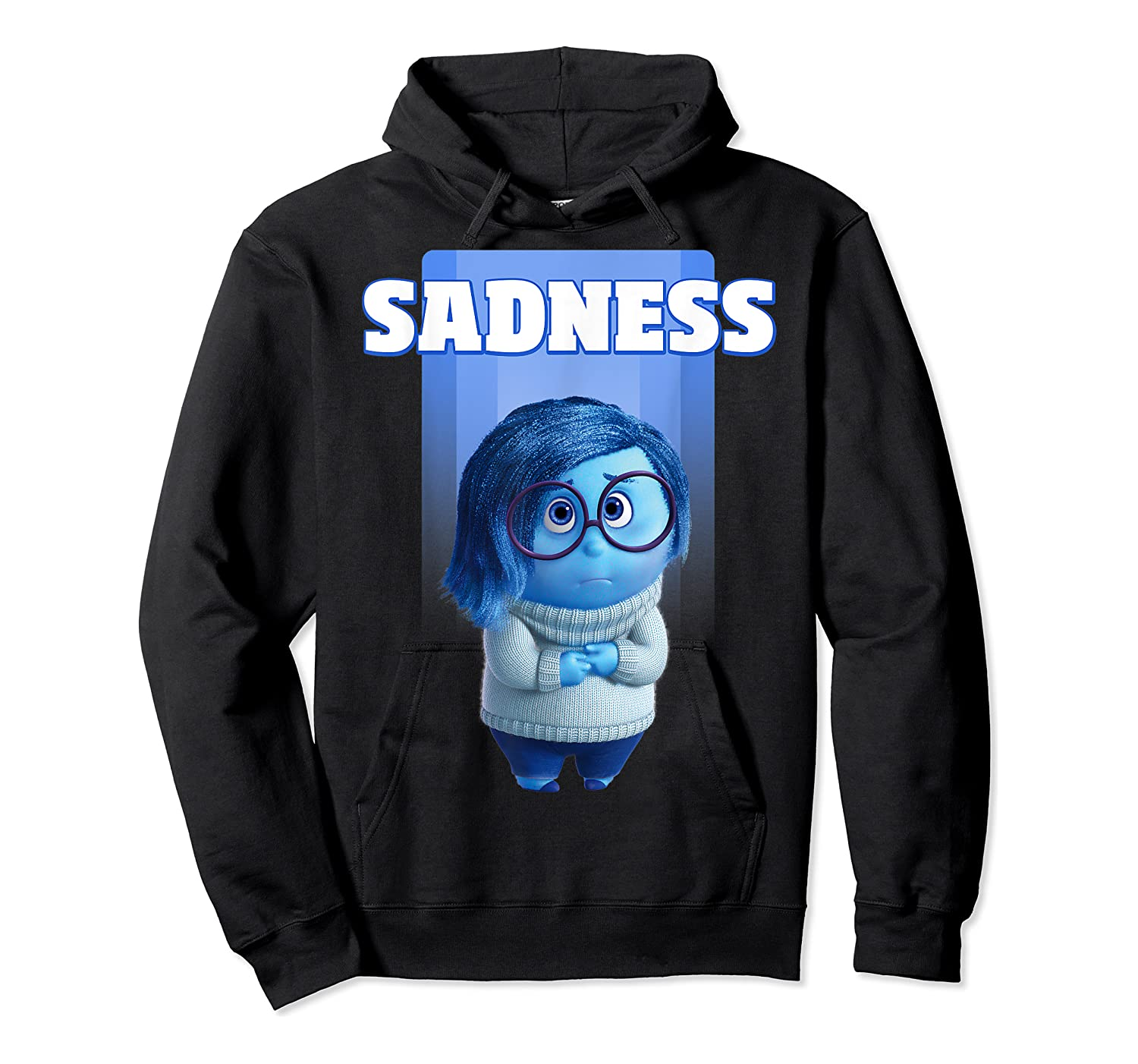 Pixar Inside Out Sadness Portrait Shirts Unisex Pullover Hoodie