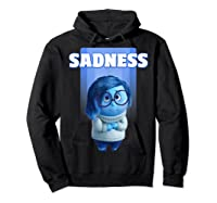 Pixar Inside Out Sadness Portrait Shirts Hoodie Black