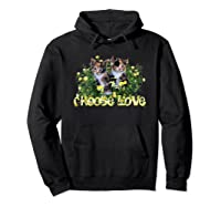 Calico Cats In The Roses By Bonnie Vent Shirts Hoodie Black