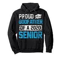 Proud Godfather Of 2020 Graduate Graduation Blue Themed Shirts Hoodie Black