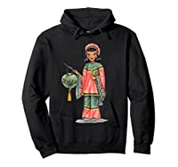Vintage Traditional National Chinese Costume Doll Shirts Hoodie Black
