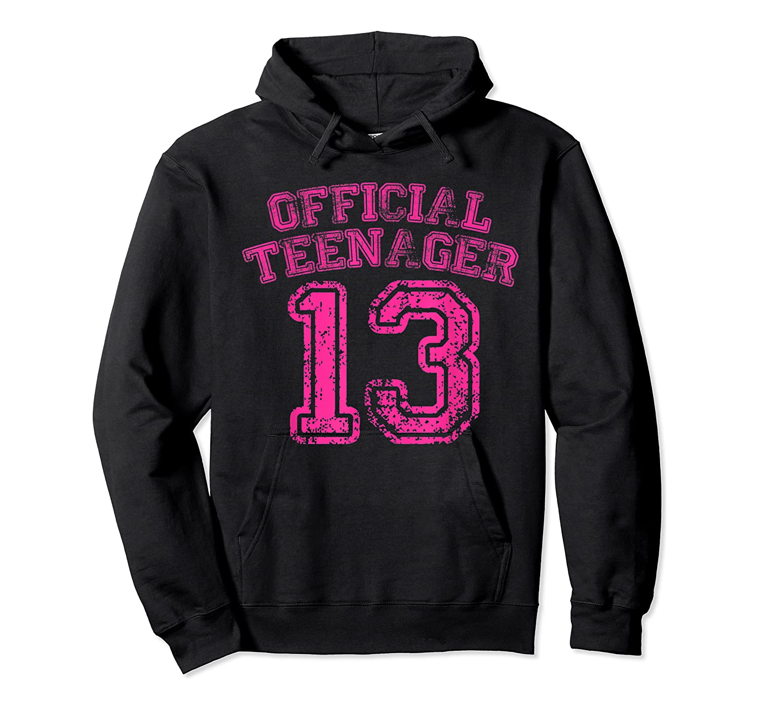 Nager Pink Funny 13th Birthday Girls Shirts Unisex Pullover Hoodie