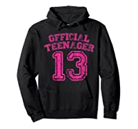 Nager Pink Funny 13th Birthday Girls Shirts Hoodie Black