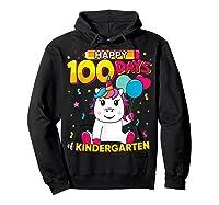 Unicorn Happy 100 Days School Kindergarten Girls Gift Shirts Hoodie Black
