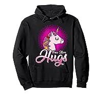 Free Mom Hugs Rainbow Lgbt Pride Unicorn T-shirt Gift Hoodie Black