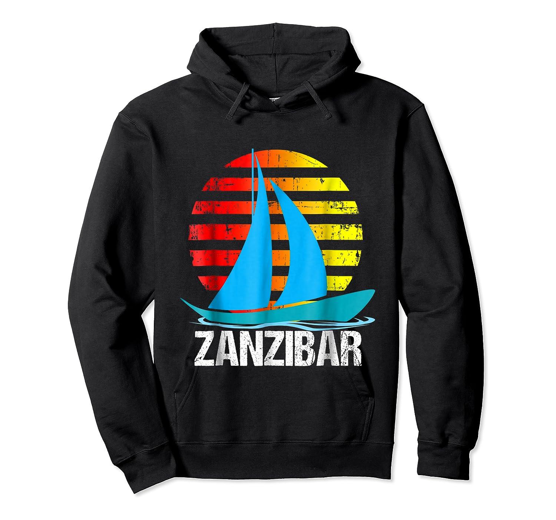 Zanzibar Sailing T-shirt Sunset Sailboat Vacation Gift Unisex Pullover Hoodie