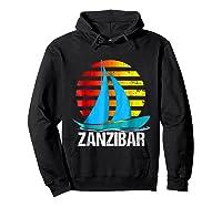 Zanzibar Sailing T-shirt Sunset Sailboat Vacation Gift Hoodie Black