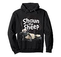 Shaun The Sheep Alt Logo With Shaun Shirts Hoodie Black