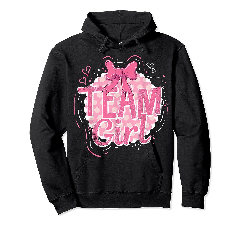 Team Girl Gender Reveal Party Pregancy T-shirt Unisex Pullover Hoodie