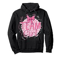 Team Girl Gender Reveal Party Pregancy T-shirt Hoodie Black