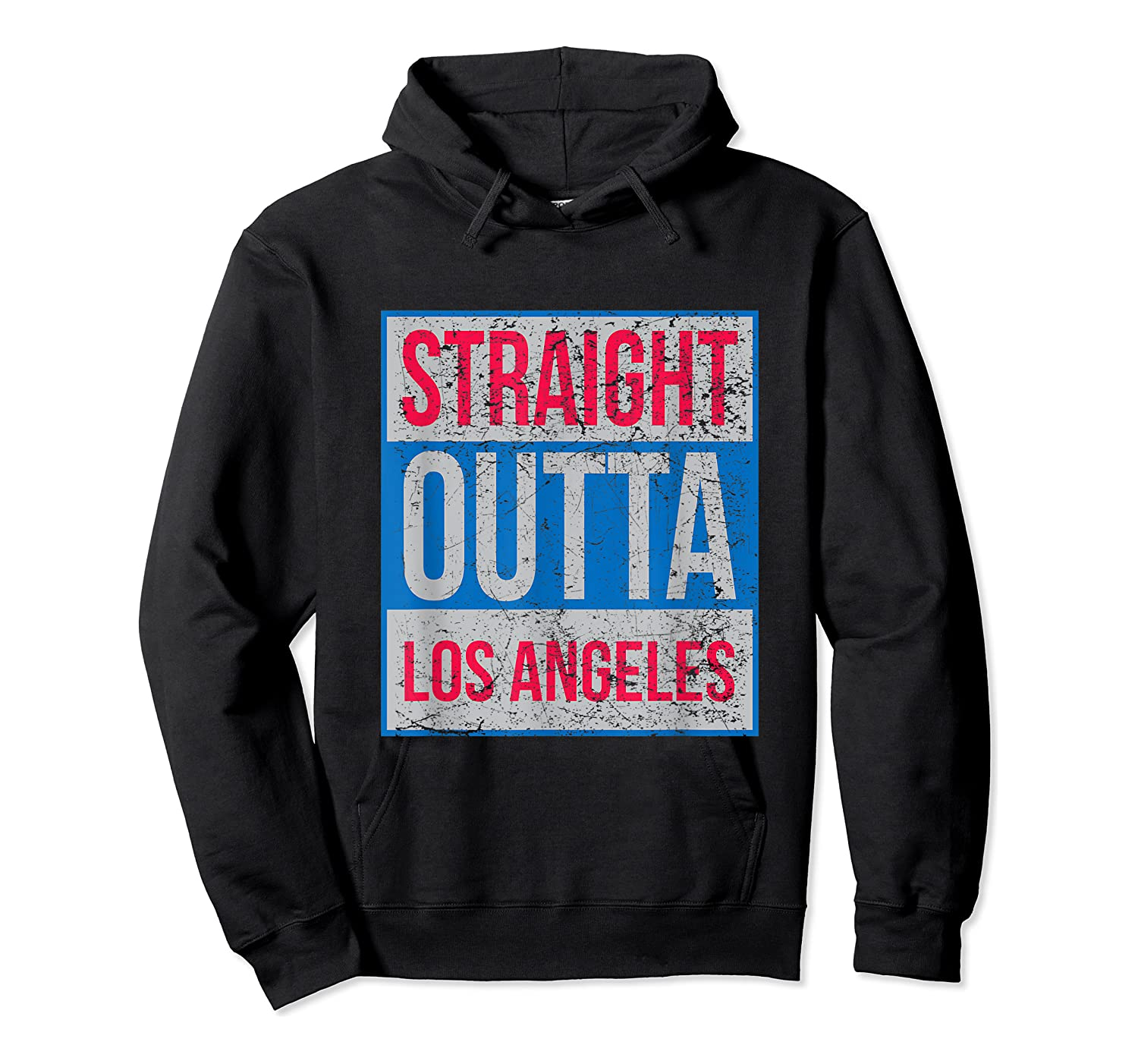 Straight Outta Los Angeles Basketball Shirts Unisex Pullover Hoodie