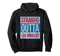 Straight Outta Los Angeles Basketball Shirts Hoodie Black