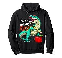 Teasaurus Rex - Funny Dinosaur Tea Appreciation Gift T-shirt Hoodie Black