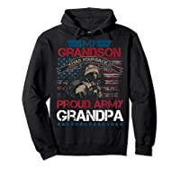 My Grandson Has Your Back Proud Army Grandpa Gift Shirts Hoodie Black